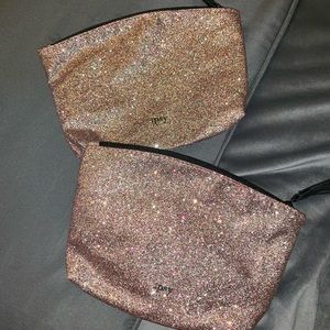 🆕 SET OF 2 Ipsy empty zippered cosmetic bags